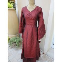 "Robe en taffetas rouge ""Ariane"""