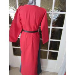 Robe à godets bicolore en coton épais