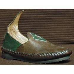 Chaussure Zatar vert et marron foncé