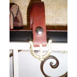 ceinture longue avec boucles en laiton