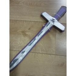 """épée mousse """"dragon"""" mauve et argent"""