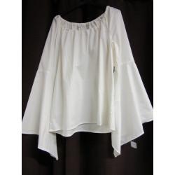 Chemise femme en coton manches longues