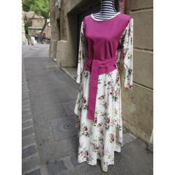 Robe d'inspiration médiévale en coton épais