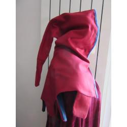 aumusse bicolore à créneaux en coton épais