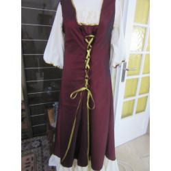 Robe légère en taffetas et coton, serrage lacets