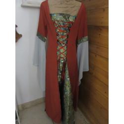 Robe en coton satiné et brocard vénitien
