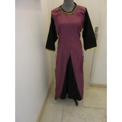Robe Violette et noire