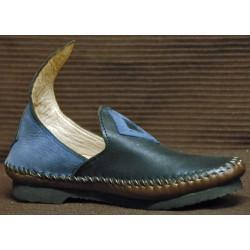 Chaussure Zatar bleu et marron foncé