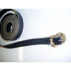 "ceinture fine cuir boucle ""fleur"""