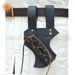 Porte-épée large en cuir