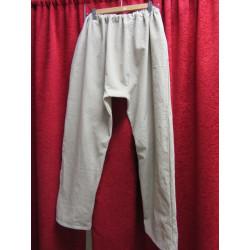 pantalon médiéval adulte lin brut