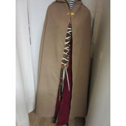 Cape velours de lainage  fermoir métallique