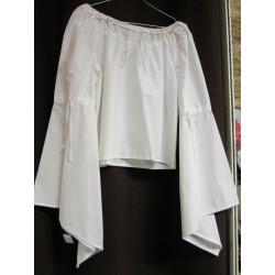Chemise Renaissance femme en coton blanc