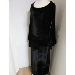 Robe droite en velours noir